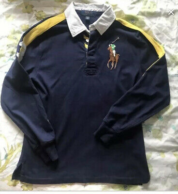 Long Sleeve Ralph Lauren Polo Shirt Boys Age 10-12