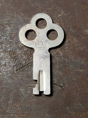 Vintage Excelsior Key 5988 Old Antique Trunk Lock Luggage Key #5988