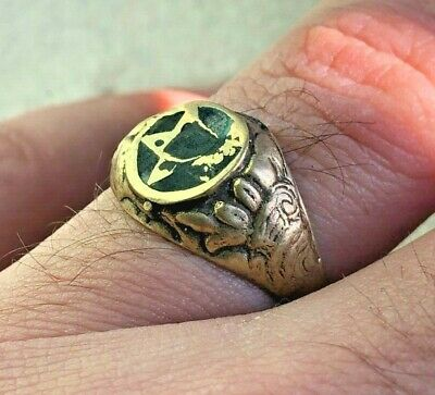 Ancient Antique Bronze pantagram Ring Artifact Very Old Stuning Rare Type