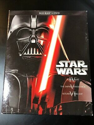 STAR WARS The COMPLETE TRILOGY IV V VI ANH ESB ROTJ BLU-RAY & DVD 6 Disc 2013