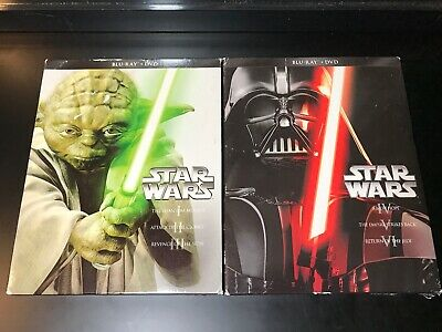 STAR WARS COMPLETE PREQUEL & TRILOGY I II III IV V VI BLU-RAY & DVD 12 Disc 2013