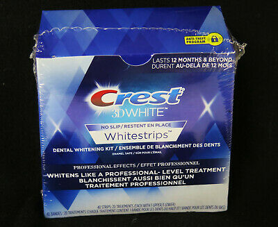 10x Crest 3D White Professional Whitening Effects Whitestrips *new* 40 strips
