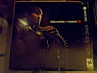 Gears of War 3 Epic Edition Xbox 360 LIKE NEW OPEN BOX EVERYTHING SEALED