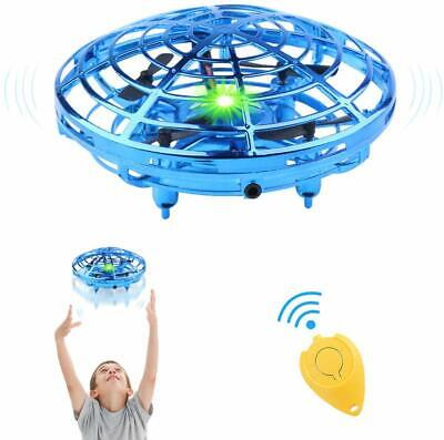 Flying Toys Drones 2 Speed Hand Operated Drone 720°Rotating UFO for Kids - Blue