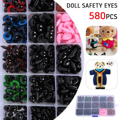 580PCS Safety Eyes And Nose Washers With Box For Teddy Bear Doll Making Craft