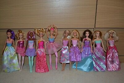Bulk Lot Of 10 Princess Fantasy Theme Barbie Dolls Excellent Condition