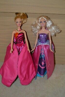 Bulk Lot Of 2 Transforming Mariposa Barbie Dolls In Excellent Condition