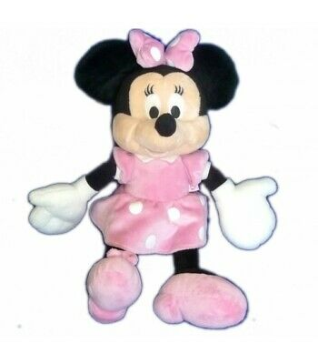 Peluche doudou MINNIE Rose pois blancs Disney club Nicotoy 38 cm