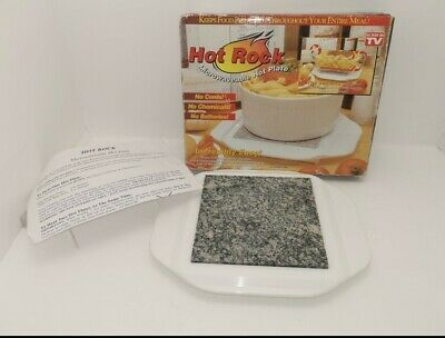 Granite Stone Plate Microwavable Stone Hot Plate  No Electricity
