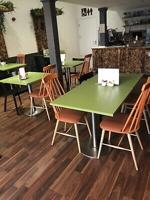 used cafe tables and chairs large multi coloured job lot, funky & fresh look
