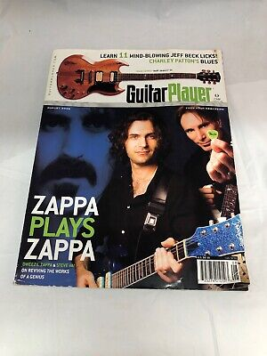 Guitar Player Magazine August 2006 Dweezil Zappa and Steve Vai Front Cover