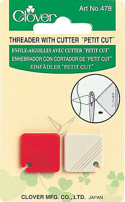 Clover Petit Needle Threader With Cutter : 2 Pieces per Pack - JN2220-478