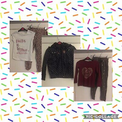 Girls Clothes Bundle Size 5-6 Years H&M Primark Trousers Top Raincoat