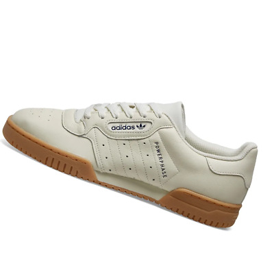 ADIDAS POWERPHASE TRAINERS in Off White & Dark Blue SALE