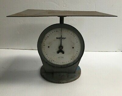 Vintage Salter Scales #250 Industrial 50kg 200 Old Cast Iron Post Office England