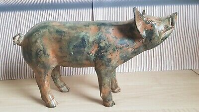 """Superb Heavy French Solid Bronze Statue """"Pig"""" ~ Signed P Chenet ~ No Reserve!"""