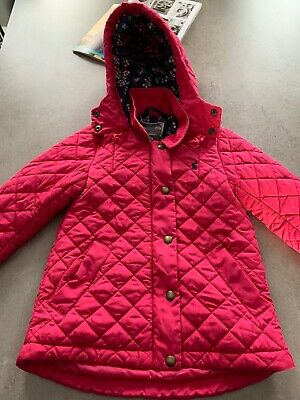 Girls Joules Pink Quilted Coat - 3 Years