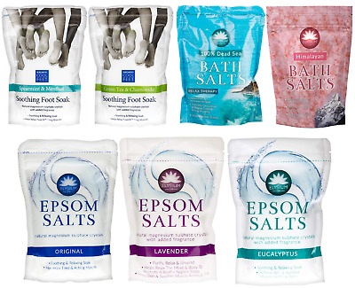 Elysium Spa Epsom Bath Salt & Foot Feet Soak Soothing Spa Salt Pain Ache Natural