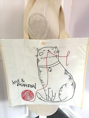 Large Knitting Project / Shopping Bag ~ Mothers Day Gift