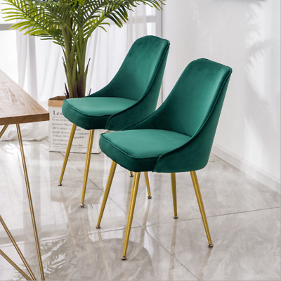 Dining Table Velvet Chair Leisure Backrest Chair Sofa Single Seat Makeup Chair
