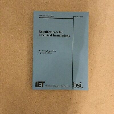IET 18th Edition wiring Regulations Book BS 7671:2018