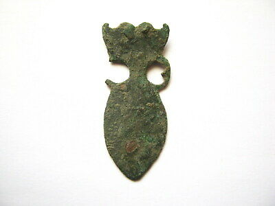 Ancient Roman Amphora Shaped Bronze Strap End ca.3rd-5th Century AD (01)