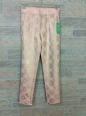NWT Copper Key Pink Gold Leggings Girl Kid Size Medium