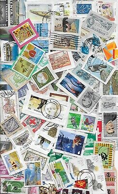100g WORLD STAMP MIXTURE/KILOWARE ON PAPER. GREAT LOT FOR SORTING # 9