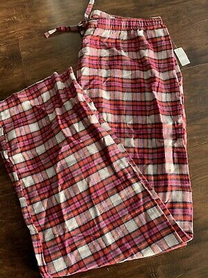 NWT GAP LOVE BY GAP WOMANS FLANNEL PAJAMA  PANTS MEDIUMsz PINK PLAID REG$34