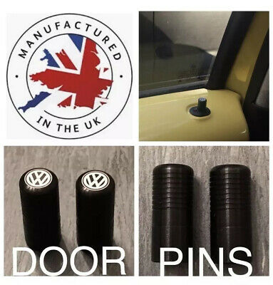 VW Golf Polo Beetle Jetta Caddy Lupo Passat T5 T6 Black Door Lock Pull Pins