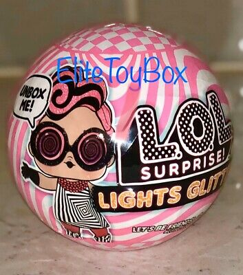 LOL Surprise LIGHTS GLITTER Series Doll Ball Blacklight Surprises IN HAND NEW