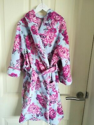 Gorgeous Monsoon Girl's Floral Fleece Dressing Gown. Cath Kidson type print
