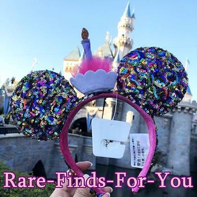 Disney Parks Minnie Mouse Ear Birthday Confetti Cupcake Sequin Headband NEW/TAGS