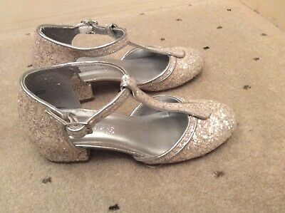 Girls silver sparkle party shoes Size 13 Peacocks Worn once