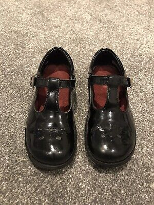 Clarks Girls Black Patent School Shoes Size UK 9.5F