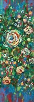 Rainbow White Rose Painting, Abstract Flowers, Roses, Flower Painting, Floral