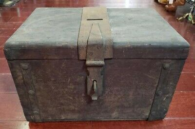 Mid 19th Century New Orleans Wooden Ballot Box