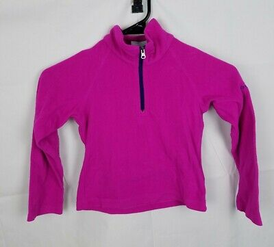 Columbia Glacial II 1/2 Zip Fleece Pullover pink AG6987 girls size XXS 4/5