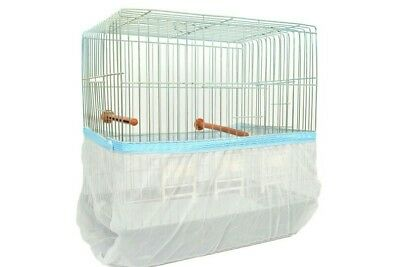 """20 Pcs Bird Cage Cover Seed Catcher Guard Tulle Mesh Skirt  Large Cir 60 - 76 """""""