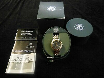NEW Citizen BL7174-59L Mens Watch Eco-Drive Two Tone Riega Alarm Chronograph WR