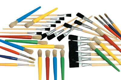 School Smart Young Artist Paint Brushes, Assorted Sizes, Set of 36