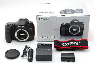 【Near Mint】Canon EOS 70D 20.2MP DSLR Camera - Black Body Only From Japan #346