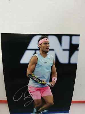 Foto Tennis Photo  Rafael Nadal  Signed Autografata Signed with COA