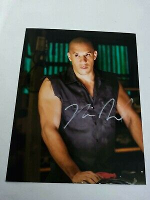 FOTO Photo Vin Diesel Fast and Furious  Autografata + COA Photo Toretto