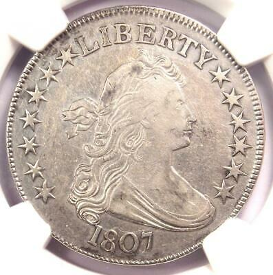 1807 Draped Bust Half Dollar 50C Coin - Certified NGC XF Detail - Rare Date!