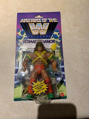 Masters Of The WWE Universe Ultimate Warrior Action Figure In Hand