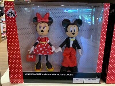 Disney Parks Mickey and Minnie Mouse Dolls Set of 2 (New in Box)