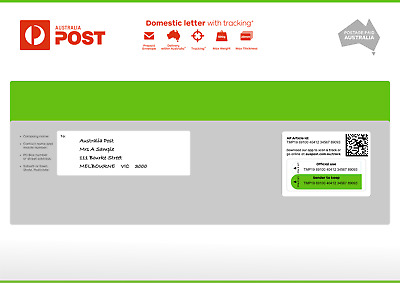 20 x Domestic C4 letter with tracking Large Prepaid Envelope - Free Delivery