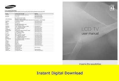 Samsung LCD TV Series 4 User Manual (Download Only)