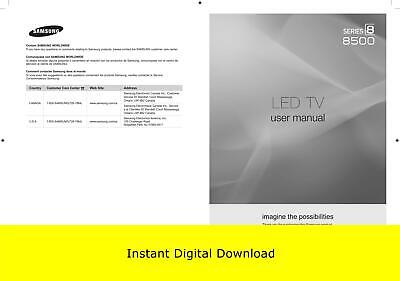 Samsung LED TV Series 8 8500 User manual (Download Only)
